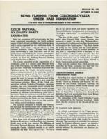 News Flashes from Czechoslovakia Under Nazi Domination, no. 155, October 19, 1942