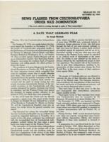 News Flashes from Czechoslovakia Under Nazi Domination, no. 156, October 26, 1942