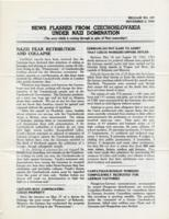 News Flashes from Czechoslovakia Under Nazi Domination, no. 157, November 2, 1942