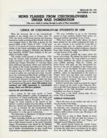 News Flashes from Czechoslovakia Under Nazi Domination, no. 159, November 16, 1942