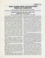 News Flashes from Czechoslovakia Under Nazi Domination, no. 160, November 23, 1942