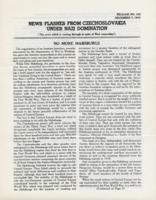 News Flashes from Czechoslovakia Under Nazi Domination, no. 162, December 7, 1942