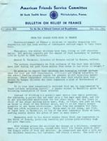 American Friends Service Committee Bulletin on Relief in France #30, May 10, 1941