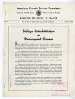 American Friends Service Committee Bulletin on Relief in France #41, April 15 1942