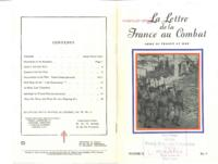 La Lettre de la France au Combat, vol. III, no. 11