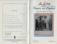 La Lettre de la France au Combat, vol. III, no. 8, September, 1943