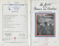 La Lettre de la France au Combat, vol. III, no. 9, November 6, 1943