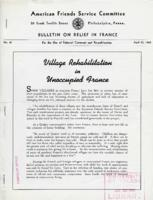 American Friends Service Committee Bulletin on Relief in France #41, April 15, 1942