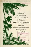 Address of the President of the Commonwealth of the Philippines Manuel L. Quezon, June 4, 1942