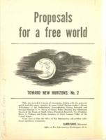 Proposals for a Free World