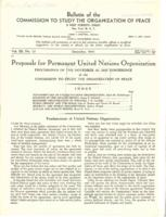 Bulletin of the Commission to Study the Organization of Peace