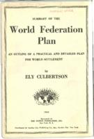 Summary of the World Federation Plan