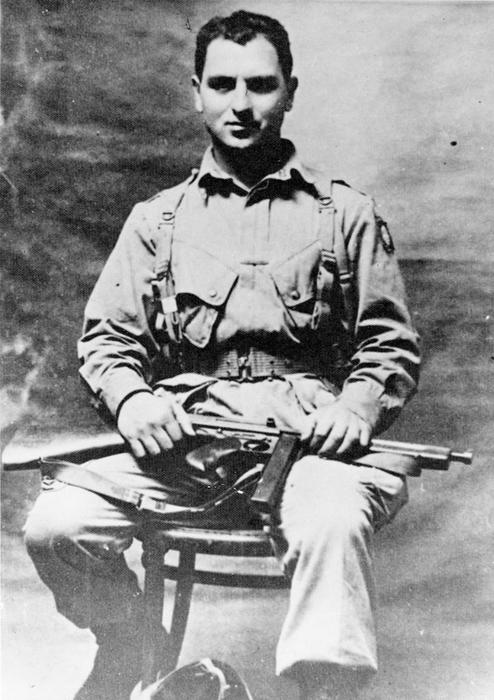 Photograph of Private First Class Carl Joseph (possibly take an Fort Bragg, North Carolina)