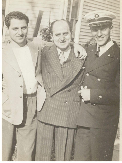 Photograph of Carl, Uncle Jed Jamra, and brother Albert Joseph