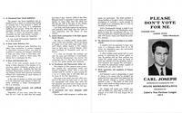 Carl Joseph Campaign Pamphlet