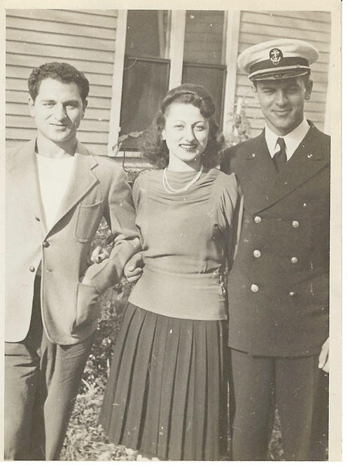 Photograph of Carl Joseph, youngest sister Madeline and Albert Joseph