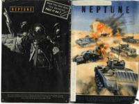 Neptune Magazine (British tanks break up an enemy formation)