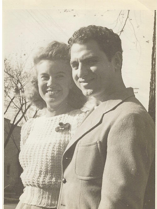 Photograph of Carl and girlfriend Margaret Kaufman
