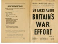 50 Facts About Britain's War Effort