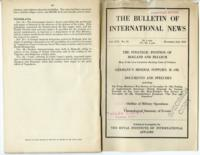 Bulletin of International News, vol. XVI, no. 24, December 2, 1939