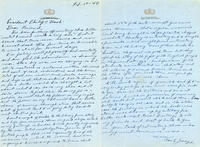 Handwritten letter from Joseph to Nash