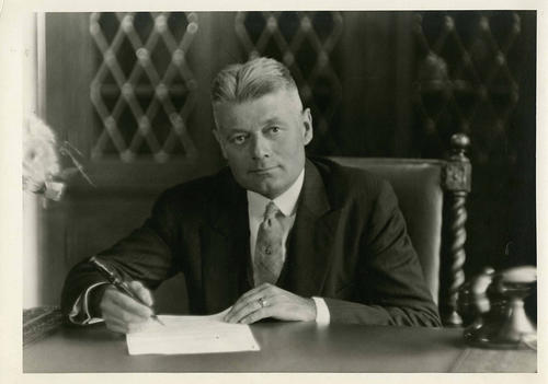 Photograph of Toledo University President Phillip C. Nash