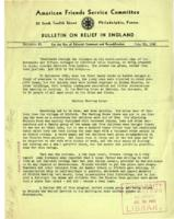 American Friends Service Committee Bulletin on Relief in England #6, June 30, 1942