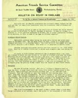 American Friends Service Committee Bulletin on Relief in England #7, August 20, 1942