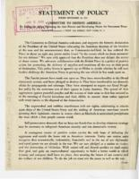 Statement of Policy, September 16, 1941
