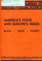 America's Food and Europe's Needs