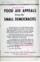 Food Aid Appeals from the Small Democrats