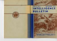 Intelligence Bulletin, vol. II, no. 1, September 1943