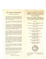 Official Documents Issued During the Two World Wars