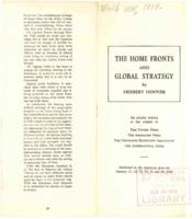 Home Fronts and Global Strategy by Herbert Hoover