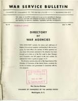 War Services Bulletin Directory of War Agencies