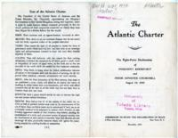 Atlantic Charter: The Eight-Point Declaration of President Roosevelt and Prime Minister Churchill