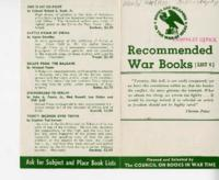 Recommended War Books