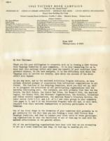 1943 Victory Book Campaign Letter