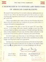 Memorandum to Officers and Directors of American Corporations
