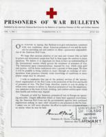 Prisoners of War Bulletin, vol. 1, no. 1, June 1943