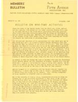 Bulletin On War-time Activities