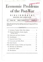 Economic Problems of the Post-War