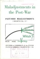 Maladjustments in the Post-War (cover only)