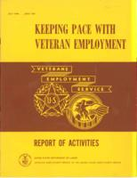 Keeping Pace with Veteran Employment