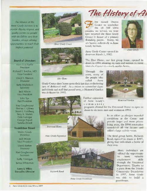 Anne Grady Reflections: Special 25th Anniversary Edition, March 2007