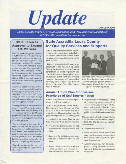 This issue of the newsletter (page 2) shows a photo at the ribbon-cutting ceremony at Anne's House--a newly established respite for families of children.