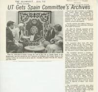 UT Gets Spain Committee's Archives