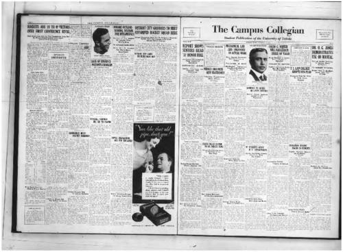 Report Shows Seniors Head '32 Honor Roll--Debate Tryouts--Medics Organize New Fraternity--Mechanical Lab Aids Engineers in Actual Work--Liberals to Argue Bus Rate Decision--Nevin O. Winter Will Inaugurate Series of Talks--TU Law College Adopts New Plan--Dr. O.G. Jones Demonstrates Use of Manual--State Police System to be Debate Topic--97 Students Assist in U Departments--Education College Places 28 Students--Twelve Former Students Receive Teaching Jobs--University Orchestra Makes Plans for Year--Convocation Features Program of Pictures--Business Ad Students Adopt New Constitution--New Members Needed for University Chorus--New System Developed by Dramatic Association--Geology Classes Study Rocks on Sunday Tour--University Band Needs More Reeds and Horns--Loans to be Restricted to Juniors and Seniors--Social Science Classes Prepare Syllabus Books--Grass--Fundamentals--Collegian Curiosities--Technical Work is Large Part of Production--The Book Parade--Student Council Minutes--Procedure Outlines by Head of Alumni--Little Theatre Stage Equipped with Ceiling--Society--University Campus Will Be Improved--Amateur Radio Station Owned by TU Student--Lezius Sees Alaska, Canada on Vacation--About--Ellen Richards Group Plans Year's Program--Substitutes' Field Goal Wins Game for Motor City Team--Events Arranged For Big Program Homecoming Day--Team Determined to Avenge Defeat--Football Games to Open Season of Intramurals--Rockets Seek Revenge from Heidelberg--Nicholson System Taught to Frosh--Rocket Harriers Drop First Meet to Detroit, The Collegian Microfilm, Roll#2