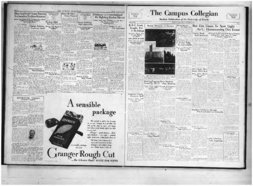 "RFC Loan Sought--Rocket Memories of Kenyon--Students Pay for Alumni Dance--C.P. Taft Talks--Bee Gee Game in Spot Light--Frantic Frosh Rush Bookstore--Ad Course Ranks With Best--Building Program Passed by Board--News Students Meetings--Cameron's Dramatic Staff--College of Arts--Snooping Statistician--Blockhouse Meeting--Faculty Dares Chess Playoff--2 Students Play in Repertoire Co--Slides to be Shown in Theatre Monday--Delta X Waffle Supper--Bus Rate Committee--Locker Checking--Tryouts ""Macbeth""--Sufficient Unto Ourselves--University Reviews--Collegian Curiosities--Jocular Remarks--Mrs. Doermann Sends Greetings--Who's Who--We Only Heard--Welcome Alumni--Faculty Biographies--Book Review--The Social Whirl--Compounds Applied to Preserve Floors--Enters School After 20 Years--Forum Presents Abbe Dimnet--U Observatory Open Fridays--46 Teach Special Classes--Sherman New Club President--U French Society Names Committee--Geiner to Attend Annual Meeting --Spanish Government--Toledo Wins Game With Kenyon--Carroll is Strong Foe--Vanyo Requests Help--Sportive Views--Blue and Gold Heidelberg Rivalry--Hudson's Frosh Improve--WAA Officers--Group to Sell 2,000 Tickets, The Collegian Microfilm, Roll#2"