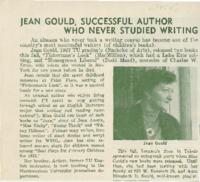 Jean Gould, Successful Author Who Never Studied Writing